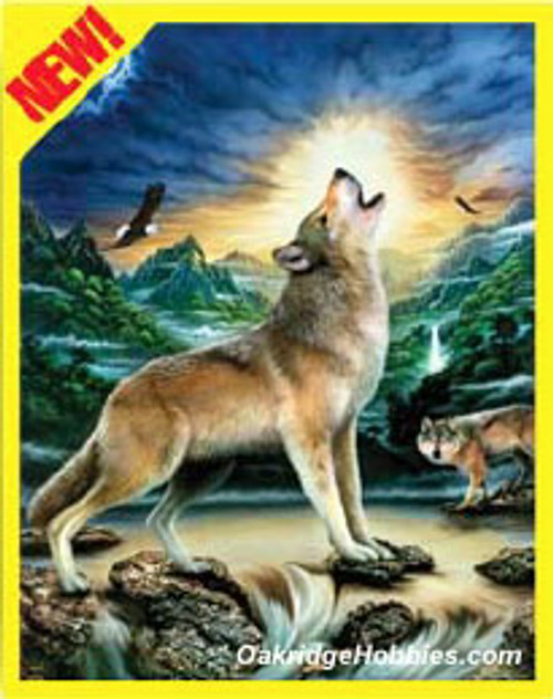 ROYAL BRUSH - WOLVES BY STREAM - Pencil By Number Craft Art Kit (CPN11) 090672057112