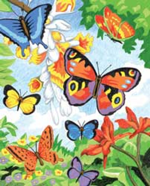 ROYAL BRUSH - Butterflies - Pencil By Number Craft Art Kit (CPN2) 0090672419019