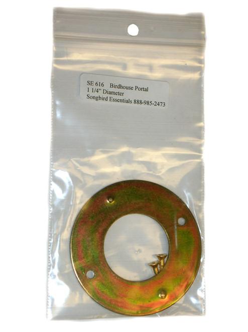 SONGBIRD ESSENTIALS - Birdhouse Door Opening Round Portal Protector - 1 1/4 in (Metal) (SE616) 645194616004