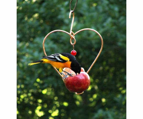 SONGBIRD ESSENTIALS - Love Birds Apple Oriole Feeder Orioles Fruit and Jelly Feeder All Bird Feeder (SEHHLBAP) 645194001183