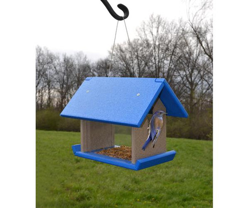 SONGBIRD ESSENTIALS - Bluebird Mealworm Feeder Blue/Grey (SERUBMWF200) 645194778917