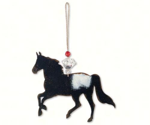 SUNSET VISTA - Black Horse Ornament (SV13999) 879510059521