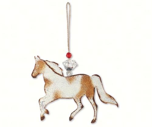 SUNSET VISTA - Brindle Horse Ornament (SV14000) 879510059538