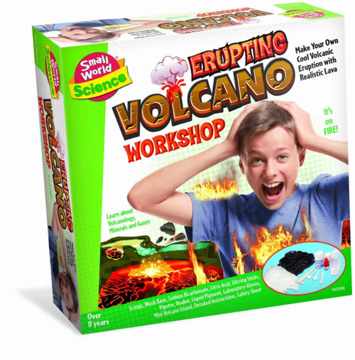 SMALL WORLD TOYS - Erupting Volcano Workshop Science Activity Kit (4311918) 090543119185
