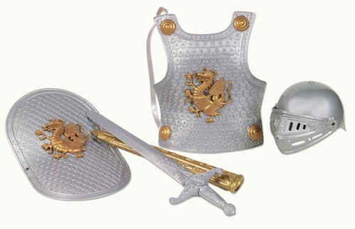 SMALL WORLD TOYS - Silver Knight in Shining Armor - Dress Up Set (45000) 090543450004