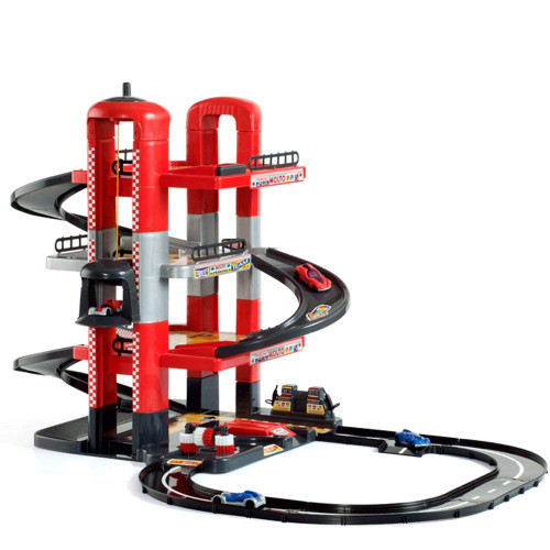 SMALL WORLD TOYS - Molto 4 Story Parking Garage With Roadway Play Set (5413) 8410963054132