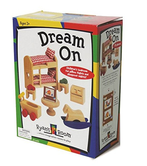 SMALL WORLD TOYS - Dream On - Children's Bedroom - Wooden Play Dollhouse Furniture (5516450) 090543164505