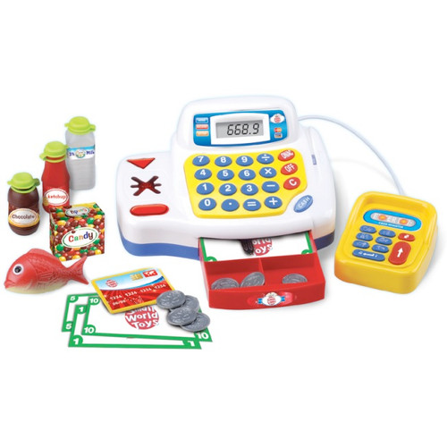 SMALL WORLD TOYS - Super Cash Register Play Set (8434326) 090543343269