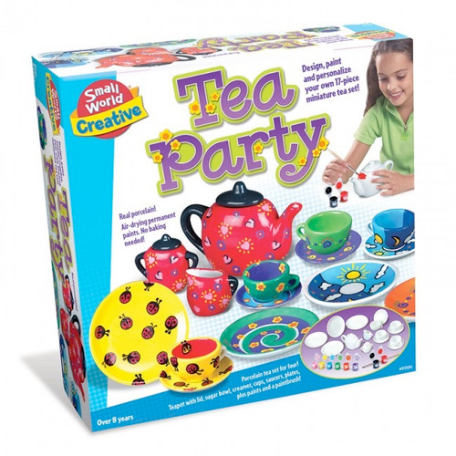 SMALL WORLD TOYS - Tea Party Paint and Play Activity Kit (9725350) 090543253506