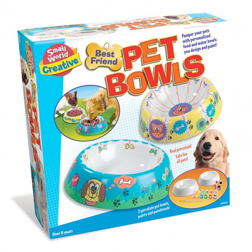 SMALL WORLD TOYS - Best Friend Pet Bowls Paint and Play Activity Kit (9725370) 090543253704