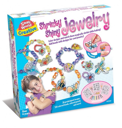 SMALL WORLD TOYS - Shrinky Shiny Jewelry Activity Kit (9725442) 090543254428