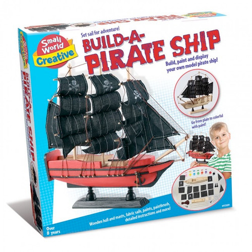 SMALL WORLD TOYS - Build - a - Pirate Ship Model Activity Kit (9725839) 090543258396