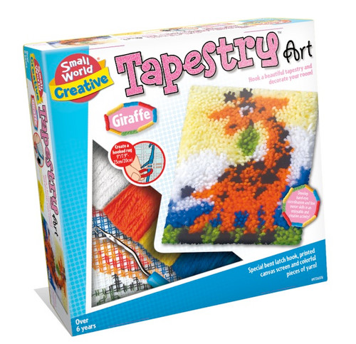 SMALL WORLD TOYS - Tapestry Art Giraffe Latch Hook Activity Kit (9726076) 090543260764