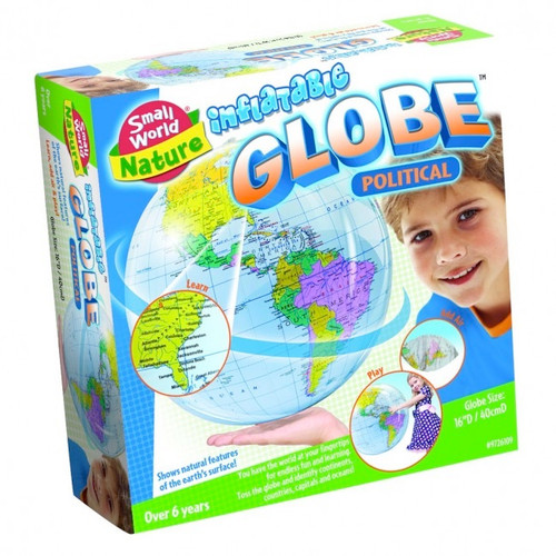 """SMALL WORLD TOYS - Inflatable Political Globe 16"""" (9726109) 090543261099"""