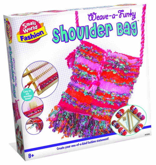 SMALL WORLD TOYS - Weave - a - Funky Shoulder Bag Knitting Activity Kit (9726146) 727565061467