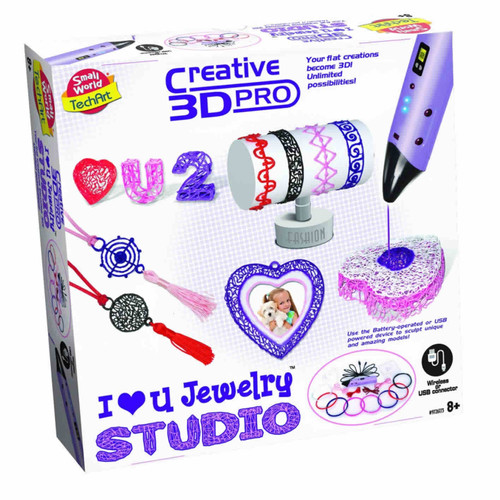 SMALL WORLD TOYS - 3D Printing Pen Jewelry Studio Activity Set (9726173) 727565061733