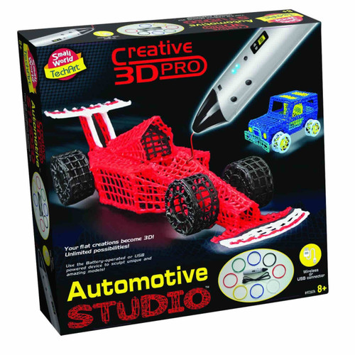 SMALL WORLD TOYS - 3D Printing Pen Automotive Studio Activity Set (9726174) 727565061740