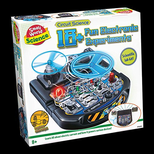 SMALL WORLD TOYS - 18+ Fun Electronic Experiments Science Activity Set (9726178) 727565061788