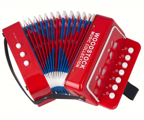 WOODSTOCK CHIMES - Woodstock Kid's Accordion Musical Instrument WOODWCKA 028375063611
