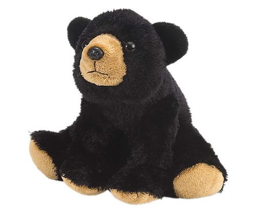 "WILD REPUBLIC - Black Bear 8"" Plush Animal Toy WR10832 092389108323"