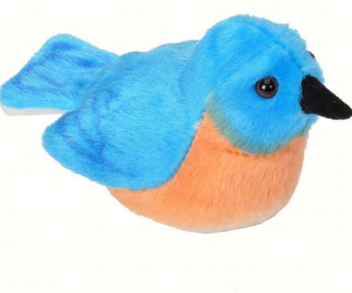 WILD REPUBLIC - Bluebird Plush Bird Toy with Sound WR18230 092389182309