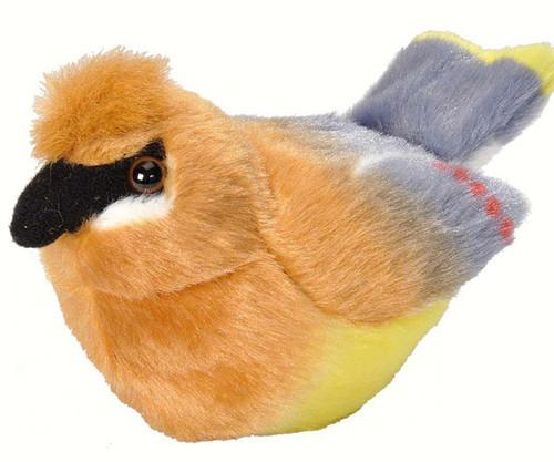 WILD REPUBLIC - Cedar Waxwing Plush Toy Bird with Sound WR18231 092389182316