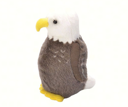 WILD REPUBLIC - Bald Eagle Plush Bird Toy with Sound WR18236 092389793642