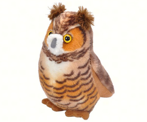 WILD REPUBLIC - Great Horned Owl Plush Bird Toy with Sound WR18240 092389182408