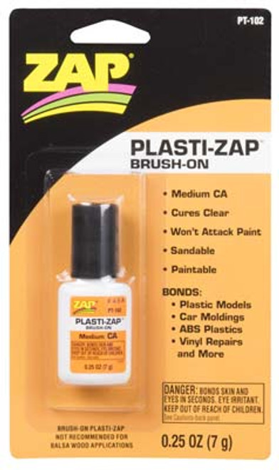 PT102 Plasti-Zap CA Brush On 1/4oz Adhesive (PT102) 087093009271