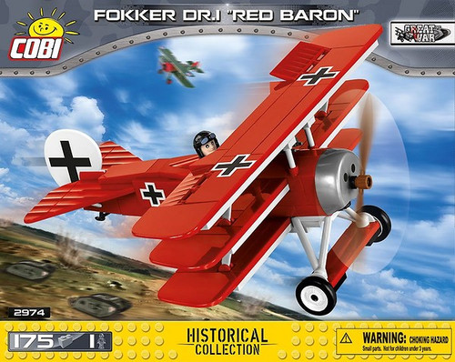 COBI 175 pcs Small Army Fokker Dr 1 Red Baron (2974) 5902251029746