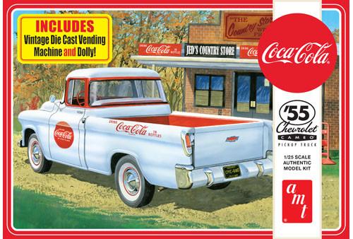 AMT - 1/25 '55 Chevy Cameo Pickup Plastic Model Car Kit (1094) 849398021934