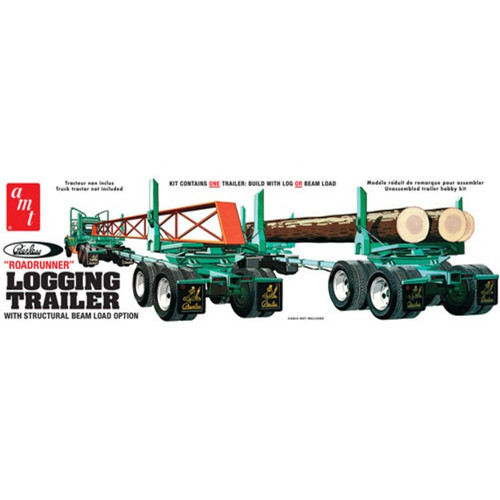 AMT - 1/25 Peerless Logging Trailer Plastic Model Kit (1103) 849398022092