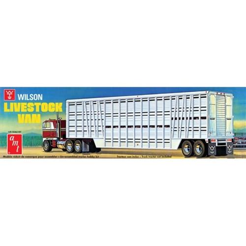 AMT - 1/25 Wilson Livestock Van Trailer Plastic Model Kit (1106) 849398024447