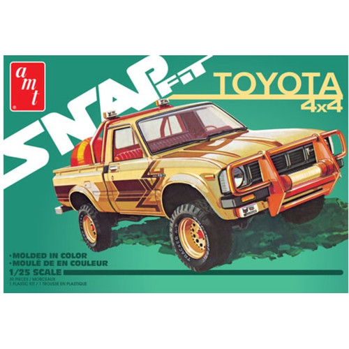 AMT - 1/25 1980 Toyota Hilux SR5 Pickup 2T Plastic Model Truck Kit SnapFit (1114M) 849398026434