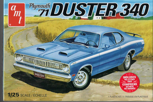 AMT - 1/25 1971 Plymouth Duster 340 Plastic Model Car Kit (1118) 849398026977