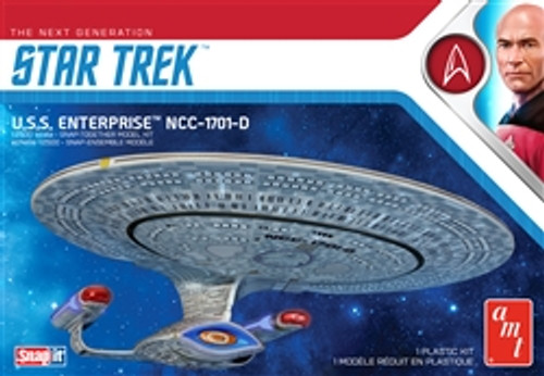 AMT - Star Trek USS Enterprise-D (Snap) 1:2500 Scale plastic model space kit - (1126M) 849398030059
