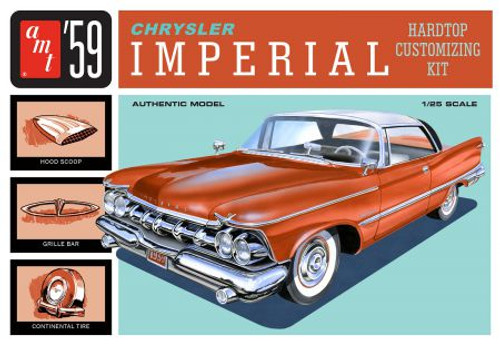 AMT - 1/25 '59 Chrysler Imperial Plastic Model Car Kit - (1136) 849398030424