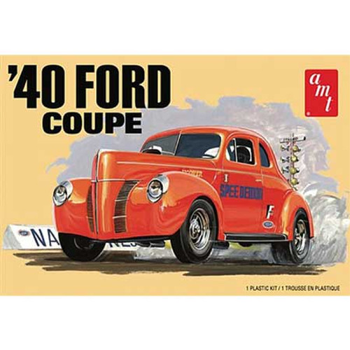 AMT - 1/25 '40 Ford Coupe 2n1 Plastic Model Car Kit - (1141M) 849398031001
