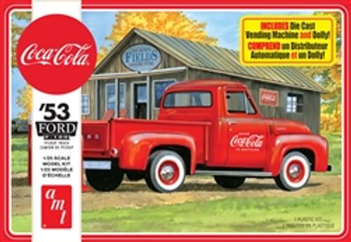 AMT - 1953 Ford Pickup (Coca-Cola) 1:25 Scale Plastic Model Truck Kit - (1144M) 849398034811