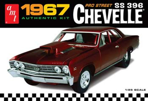 AMT - 1/25 Scale 1967 Chevy Chevelle Pro Street Plastic Model Kit (876) 849398005538