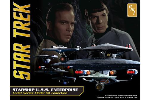 AMT - Star Trek U.S.S. Enterprise Box Set - Snap Plastic Model Kit (954) 849398009758