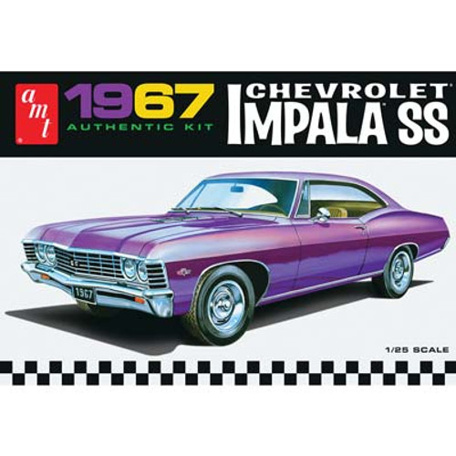 AMT - 1/25 Scale 1967 Chevy Impala SS Muscle Car Plastic Model Kit 981 849398010860