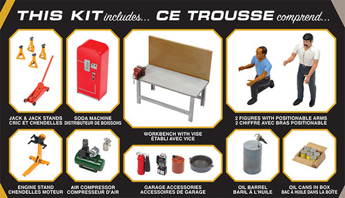 AMT - 1/25 Garage Plastic Model Accessory Set #2 2T (PP016M) 849398020258