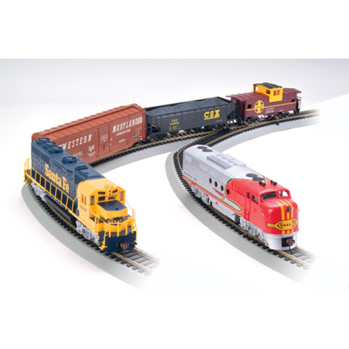 BACHMANN - HO Scale - Electric Train Set SANTA FE Digital Commander Deluxe Set (00501) 022899005010