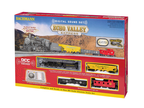 BACHMANN - HO Scale Echo Valley Express Set with EZ Command Sound System (00825) 022899008257