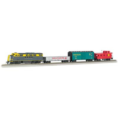 BACHMANN - 01501 HO Scale Blue Lightning Electric Train Set w/E-Z App Train Control 022899015019