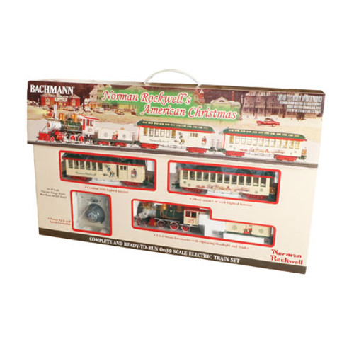 BACHMANN - On30 Scale Norman Rockwell American Christmas Train Set (25023) 022899250236