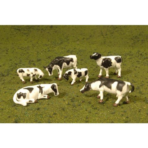 BACHMANN - O Scale Cows Black & White (6) (33153) 022899331539