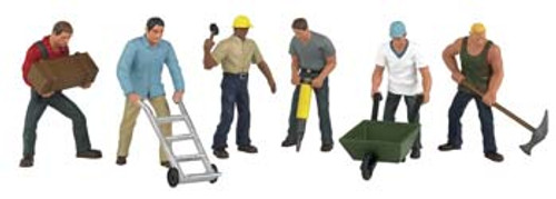BACHMANN - O Construction Workers (6) - Train Figures (O Scale) (33155) 022899331553