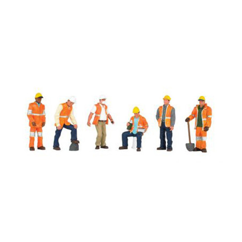 BACHMANN - O Maintenance Workers (6) - Train Figures (O Scale) (33156) 022899331560